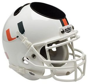 NCAA Miami Hurricanes Football Helmet Desk Caddy