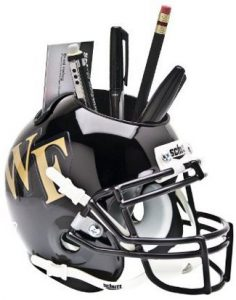 NCAA Wake Forest Demon Deacons Football Helmet Desk Caddy