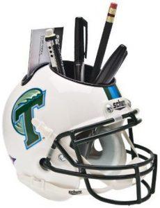 NCAA Tulane Green Wave Football Helmet Desk Caddy