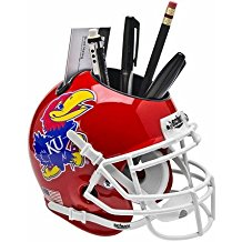 NCAA Kansas Jayhawks Football Helmet Desk Caddy