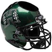 NCAA Hawaii Rainbow Warriors Football Helmet Desk Caddy