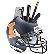 NCAA Illinois Fighting Illini Football Helmet Desk Caddy