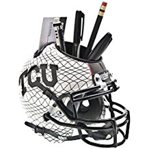 NCAA TCU Horned Frogs Football Helmet Desk Caddy