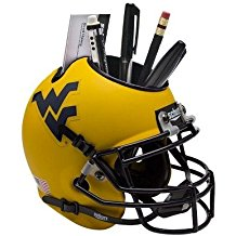 NCAA West Virginia Mountaineers Football Helmet Desk Caddy
