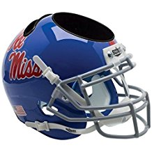 NCAA Ole Miss Rebels Football Helmet Desk Caddy