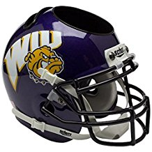 NCAA Western Illinois Leathernecks Football Helmet Desk Caddy